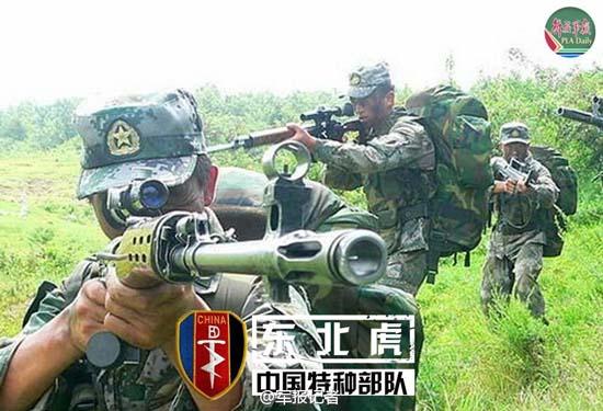原文配图:沈阳军区的海军特种大队