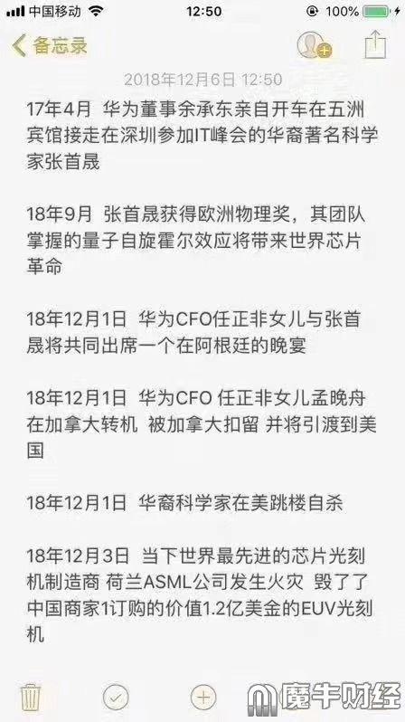 张首晟 孟晚舟的相关联系的猜测: